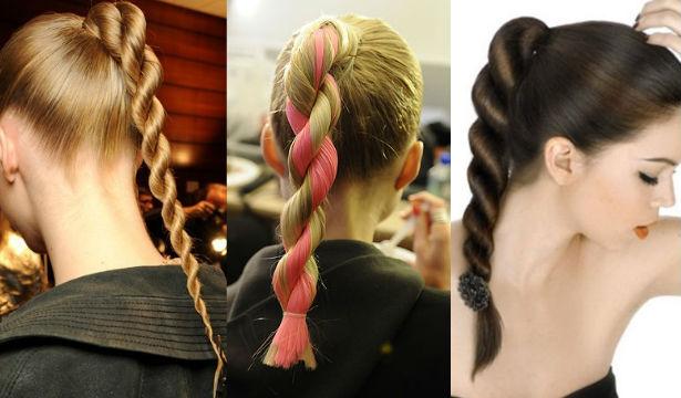 Как заплести жгут из волос самой себе