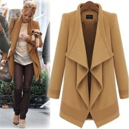 Модное пальто с запахом