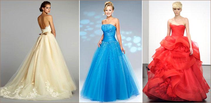Пышные платья цветные фото
