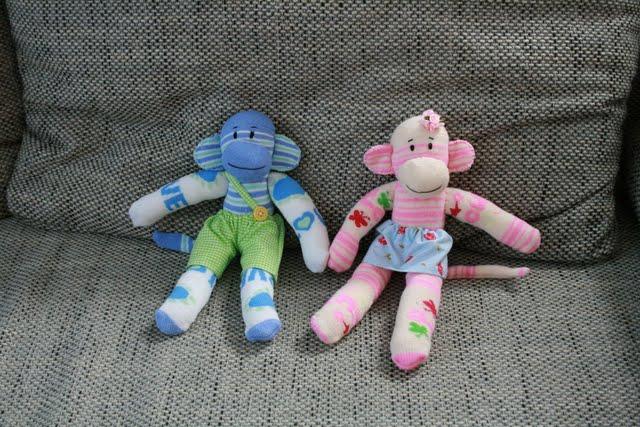 Обезьянки из носков своими руками фото