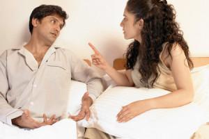 Жена избегает близости с мужем