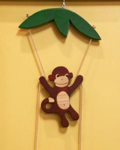 Поделка в детский сад к новому году обезьяны